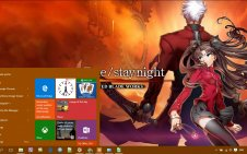 Fate/stay night: Unlimited Blade Works win10 theme