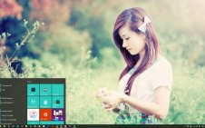 Dream Girl win10 theme