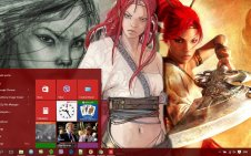 Heavenly Sword win10 theme