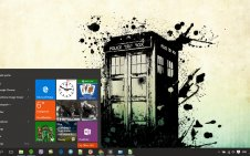 Tardis win10 theme
