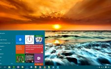 Sunset win10 theme