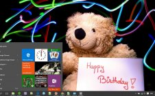 Happy Birthday win10 theme