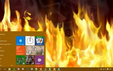 Fire win10 theme