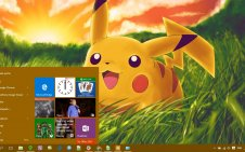 Pikachu win10 theme