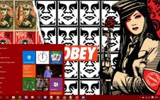 Obey win10 theme
