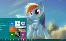 Rainbow Dash win10 theme