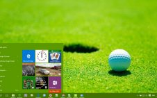 Golf win10 theme