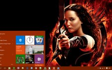 The Hunger Games win10 theme