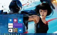 Mirror's Edge win10 theme