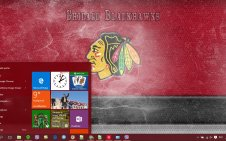 Chicago Blackhawks win10 theme