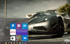 Need for Speed Rivals win10 theme