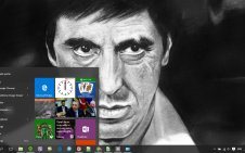 Scarface win10 theme