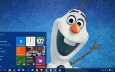 Olaf win10 theme
