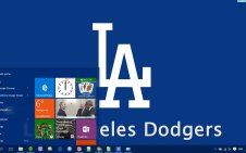 Los Angeles Dodgers win10 theme