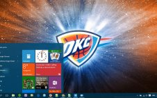 OKC Thunder win10 theme