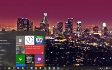 Los Angeles win10 theme