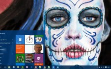 Sugar Skull win10 theme