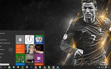 CR7 win10 theme