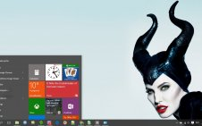 Maleficent win10 theme