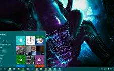 Alien win10 theme