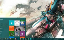 Gundam win10 theme