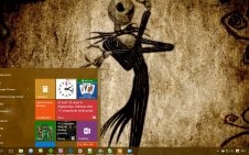 The Nightmare Before Christmas win10 theme
