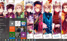 Hetalia: Axis Powers win10 theme