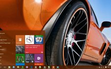 Corvette win10 theme