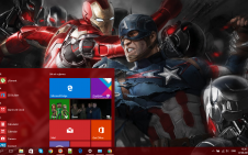 Avengers: Age of Ultron win10 theme
