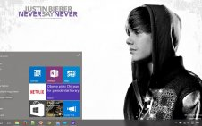 Justin Bieber: Never Say Never win10 theme