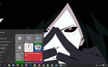 Madara Uchiha Theme Desktop
