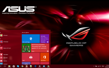 Asus ROG (Republic of Gamers) Theme Desktop